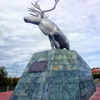 Памятник северному оленю. Салехард, Салехард