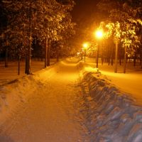park at night, Муравленко