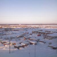 ЯНАО, Надым. Вид из окна в сторону тундры (2008)., Надым