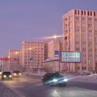 ► Проспект МИРА в лучах заката.  *, Ноябрьск