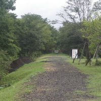 Mark on railway track of JNR Shibetsu line,Bekkai town 旧国鉄標津線線路跡(北海道別海町), Южно-Курильск