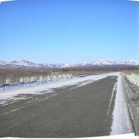 панорама, автомобильный мост, Анбэцу