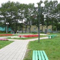 Сквер на центральной площади, Долинск