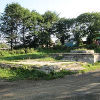 Руины японского памятника на ул. Пролетарской, Корсаков
