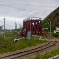 ЖД мост август 2010, Невельск