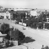 Оха(Лето 1970г.) - нынешняя площадь Ленина, Оха