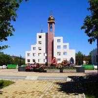 Памятник побигшим в Нефтегорске при землетрясении 1995 года, Оха