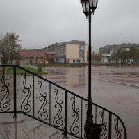 Поронайск, площадь у Мэрии, Поронайск