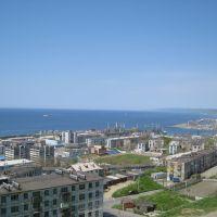 Вид города с ул. Молодёжная 17 (2008), Холмск