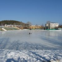 Каток на стадионе Новоуральска / Ice skating rink at the stadium Novouralsk, Новоуральск