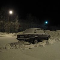 Уборка снега .snow removal in the parking lot, Лесной