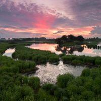 Sunset.  Iset river., Арамиль