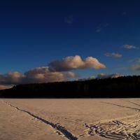 Нижний пруд зимой, Артемовский