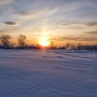 Зимний закат, Верхняя Салда