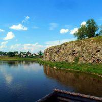 Верхотурье. Высокий берег Туры. Вид с моста., Верхотурье