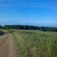 Дорога на Бездонное озеро.На горизонте справа п.Висим., Висим