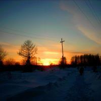 winter evening, Волчанск