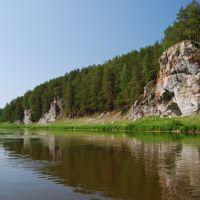 река Нейва, скалы Коптелый камень, Зыряновский