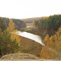 с горы вниз по течению Каменки, Каменск-Уральский