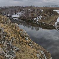 Исеть. Пасмурный апрель, Каменск-Уральский
