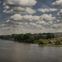 Вид с левого берега Исети на железнодорожный мост, Каменск-Уральский