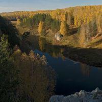 Золотая осень на Каменке (Вид в сторону слияния), Каменск-Уральский