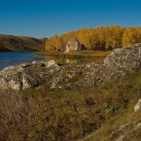 Золотая осень на Каменке (Кавдымов камень, слияние), Каменск-Уральский
