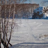Вид на Токарев камень. Март, Каменск-Уральский