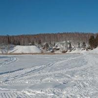 Вид на Каменку от слияния. Март, Каменск-Уральский