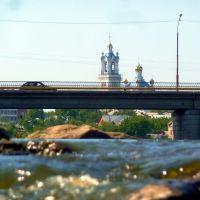 Камышлов. Вид на мост через Пышму и Покровский собор., Камышлов