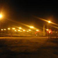 Площадь Победы ночью, Карпинск