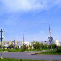 Перекресток улиц Строителей - Луначарского, Кушва