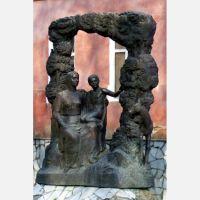 Памятник, около школы искусств, Михайловск