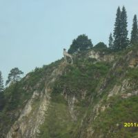 лось на скале, Нижние Серги