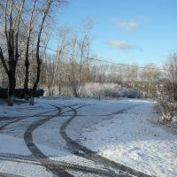 Первый снег, около Дворца культуры, Новая Ляля