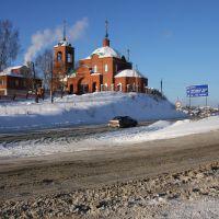 Церковь у развилки на Шалю. Church by the Shalya fork road., Первоуральск