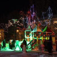 Новогодние аттракционы на пл. Победы. New Year playground on the main square, Первоуральск