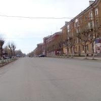Вид на улицу Горького, рядом с почтой, Ревда