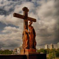 Памятник Семье Николая II, расположенный рядом с Храмом-на-Крови в Екатеринбурге., Свердловск
