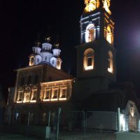 церковь Петра и Павла, зимний вечер, Североуральск