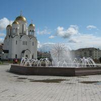 Новый фонтан на площади, Серов