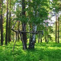Непонятное сооружение в лесу, Среднеуральск