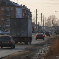 Перекресток ул.Строителей и ул.Советской (13.03.2012), Среднеуральск