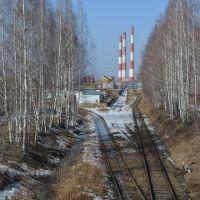 Вид на СУГРЭС, Среднеуральск
