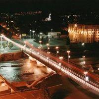 Ночной Владикавказ.Чугунный мост, Владикавказ