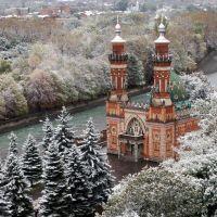 Snow-covered mosque - Мечеть в снегу, Владикавказ