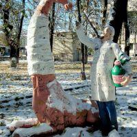 Доктор Айболит лечит  жирафа, Владикавказ
