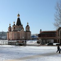 """Вид на храм """"Всех Скорбящих Радосте"""", Десногорск"""