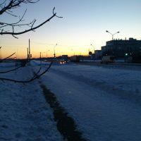 Закат зимой, Десногорск
