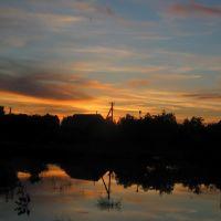 закат на пруду ул. Калинина, Ворга